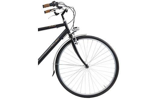 Bicicletta Bici Uomo Retrò Vintage Via Veneto Biciclette Canellini Acciaio Nero Offerta