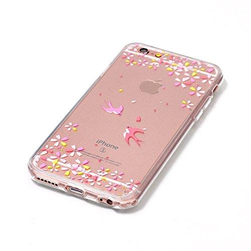 iPhone 6 Hülle,iPhone 6S Silikon Case,iPhone 6 Cover - Felfy Ultradünne Weicher Gel Flexible Soft TPU Silikon Transparent Hülle Schutzhülle Hülle Color Muster Farbmalerei Beschützer Hülle Handy Durchs Schlucken Hülle