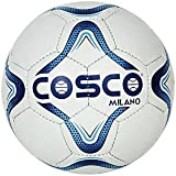 #3: Cosco Milano Foot Ball, Size 5  (White/Blue/Black)