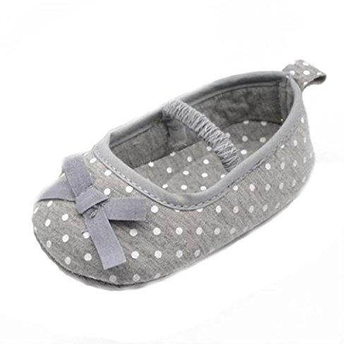 Chaussures Bébé,Fulltime® Infant filles Dot bowknot Chaussures Bottom souple Prewalker