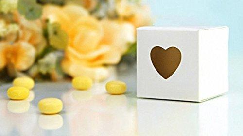 Irpot - 20 scatoline in cartone bianco con cuore intagliato 5x5x5 cm pudp9