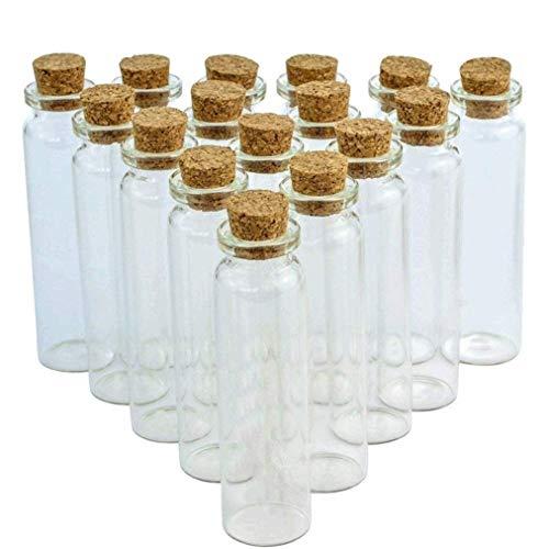 heliltd 24 Stücke 20 ml Kork Glas Glasflaschen, DIY Dekoration Mini Glasflaschen Probe Gläser, wünschen Schmuck Mitbringsel