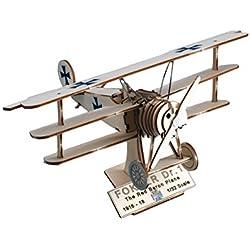 Art & Wood, avión Fokker del Barón Rojo, DR.I (maqueta en kit de madera)