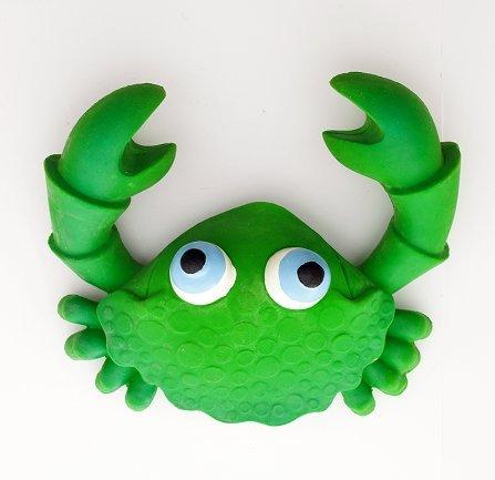 Naturkautschuk Badespielzeug Kobi der Krab Gruen