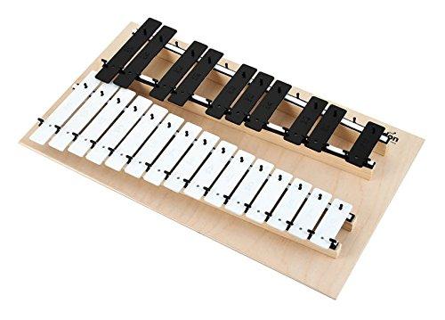 METALOFONO CROMATICO - Goldon (11080) (25 Notas) Laminas Blancas y Negras