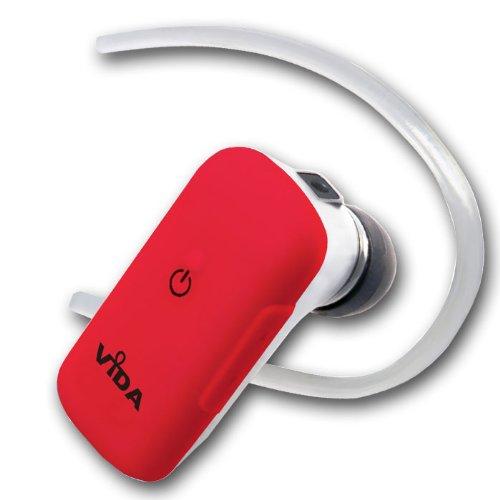 Neu Rot Bluetooth Headset V3.0 für LG - KM570 Cookie Gig - KM710 - KM900 Arena - KP170 / Unterstützt 2 Handys - Volume Control - Hohe Klangqualität