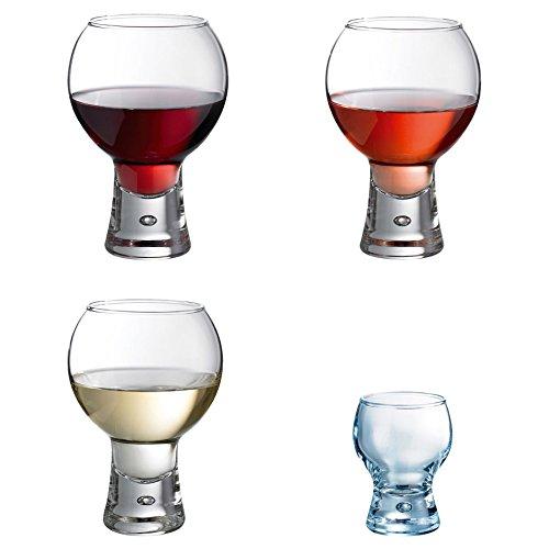 DUROBOR Alternator Lot de 24 Verres - à vin et à Shot