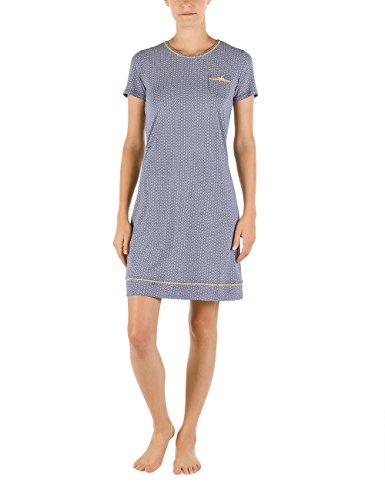 CALIDA Big Shirt Nymphia - Chemise de nuit - Femme Bleu - Blau (blue ribbon 365)