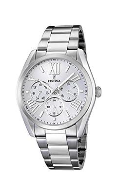 Festina F16750/1 - Reloj de pulsera hombre, acero inoxidable, color plateado de Festina