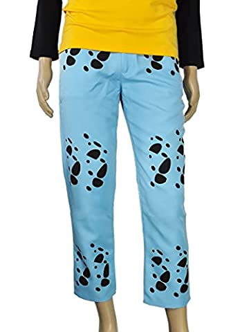 CoolChange pantalons de Trafalgar Law de One Piece, bleu. Taille: M