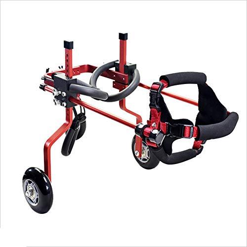 Pet Scooter, Large Hilfs Halterung Rollstuhl Paralysed Disabled Hund Aluminium-Legierung Ultra-Leichtgewichtig Anpassbare Gemeinsame Freie Installation Einstellbar (Farbe : Blau, größe : S)