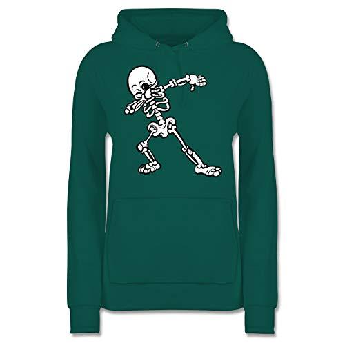 Shirtracer Halloween - Dabbing Skelett - L - Türkis - JH001F - Damen Hoodie