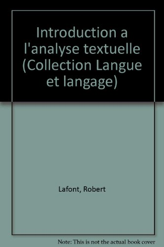 Introduction  l'analyse textuelle