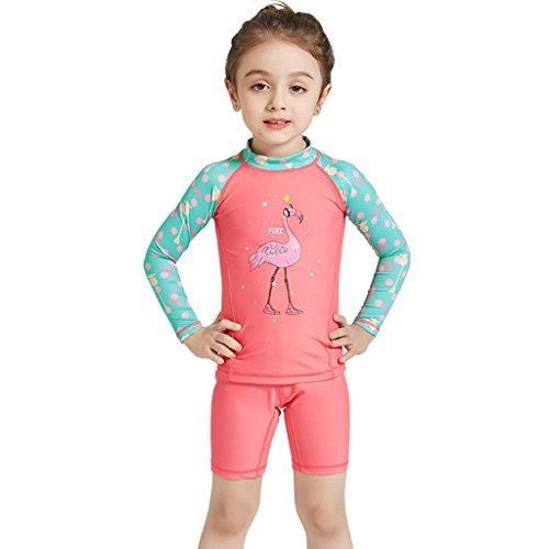 Kinder Neoprenanzug Badeanzug Zwei Stück - Jungen Mädchen Bademode Lange Ärmel Tauchanzug Sonnenschutz UV 50+ Kleinkind Kind Body Rashguard Strand