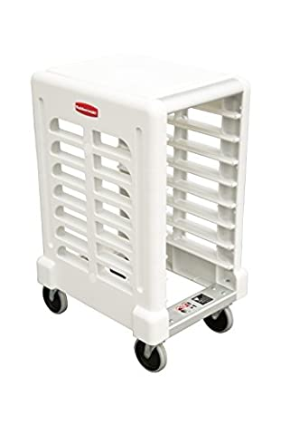 Rubbermaid Max System End Loader Prep Cart with Cutting Board - White