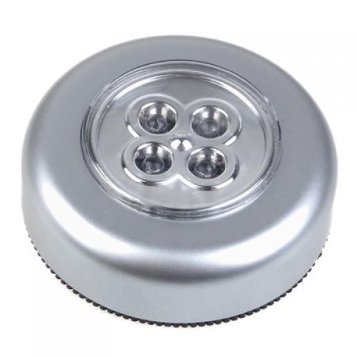 Lampe Tactile Lumière 4 LED à Piles Usage Intérieur et Extérieur
