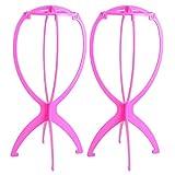 Golden Rule 2 Stücke Kunststoff Haar Perücken Stent Hair Care Tools Haar Zubehör (Pink)
