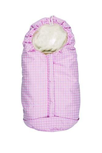 Nuvita 9215 ovetto pop - sacco universale per tutti i tipi di ovetto, navicelle e seggiolini auto. ideale per neonati, bimbi e bambini (piedipulle pink - white)