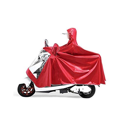 KANGSHENGRegenmantel Erhöhen Sie die Verdickung Regenmantel Radfahren Regenmantel, Adult Electric Motorrad Regenmantel mit Spiegel Slots Männlich/Weiblich Anti-Fog-Regenbekleidung Cover Reflective