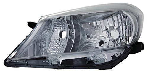 Toyota Yaris 2011–2014Scheinwerfer Lampe Chrom Innen Schwarz Trim Passenger Side N/S Mod Trim