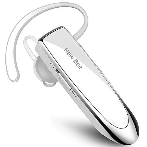 New Bee Bluetooth Headset Wireless Headset Bluetooth Freisprechen im Ohr mit Clear Voice Capture Technologie Bluetooth In-Ear Headset für iPhone Samsung Huawei HTC, Sony, usw