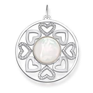 THOMAS SABO Damen-Anhänger Love Bridge 925 Silber Zirkonia weiß – LBPE0015-030-14