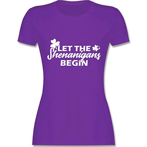 St. Patricks Day - Let The Shenanigans Begin St Patricks Day - Damen T-Shirt Rundhals Lila
