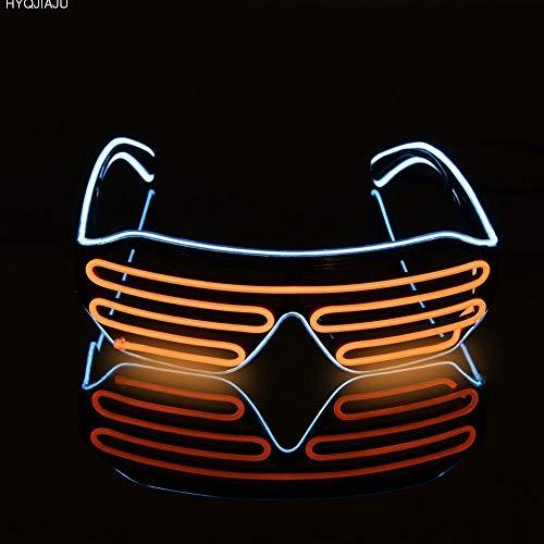 DJ Bright Brille EL Draht Mode Neon LED -