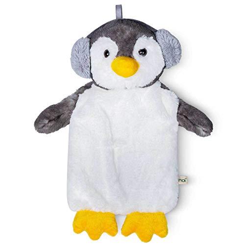 Eco Penguin bambini Pinguin bottiglia di acqua calda 1 litro con bella copertura in pelliccia sintetica morbida - Modèle 2020