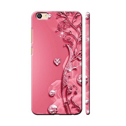 Clapcart Vivo V5 / Vivo V5s Designer Printed Back Cover for Vivo V5 / Vivo V5s - Pink Color (Heart Design For Girls)