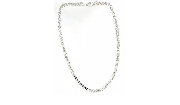 Königskette 925 Silber 4 mm 75 cm Silberkette Halskette Damen Herren Anhängerkette Schmuck ab Fabrik tendenze Italy D BZ4 75v
