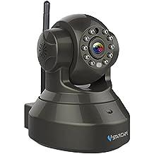Vstarcam 720p HD Videosorveglianza CCTV Camera IP Telecamera con tecnologia senza fili Wi-Fi, funzionalità audio a doppia via, facile configurazione tramite APP dedicate, sensore di movimento, visualizzazione da remoto, Pan/Tilt, 3DB antenna, Nero