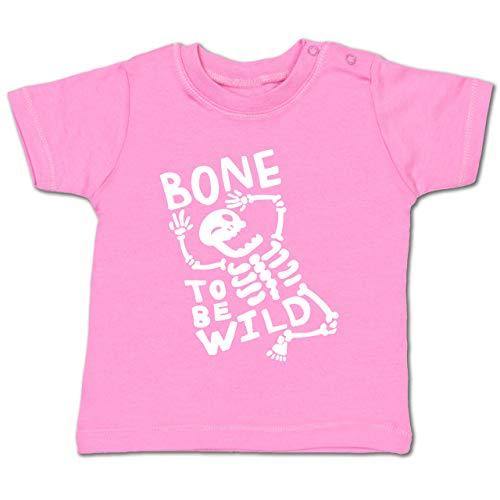(Anlässe Baby - Bone to me Wild Halloween Kostüm - 12-18 Monate - Pink - BZ02 - Baby T-Shirt Kurzarm)