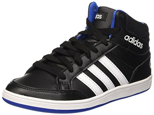 Adidas Hoops Mid K, Scarpe da Basket Bambini e Ragazzi, Multicolore (Cblack/Ftwwht/Blue), 33 EU