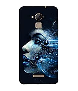 PrintVisa Floral Facet 3D Hard Polycarbonate Designer Back Case Cover for Coolpad Note 3