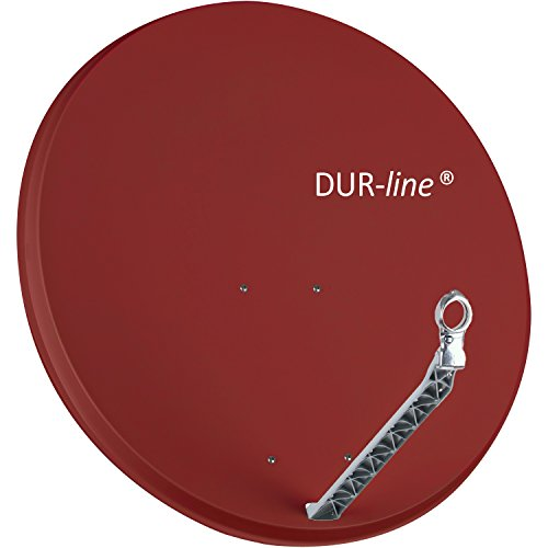DUR-line Select 85cm x 90cm Alu Satelliten-Schüssel Rot - [ Test SEHR GUT *] Aluminium Sat-Spiegel