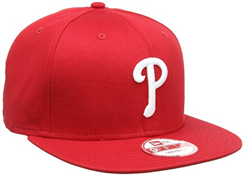 New Era Herren Baseball Cap Mütze MLB 9 Fifty Philadelphia Phillies Snapback, Red/White Team, M/L, (Philly Hats)