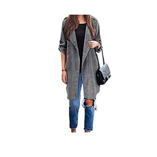 cappotto Koly _Trench femminile lungo mantello Giacche (M)