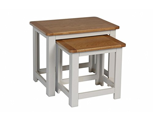 Korsika lackiert Eiche Nest von Tabellen/grau 2Nester Ende Tabellen/Holz Wohnzimmer Möbel