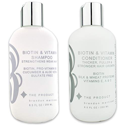 Biotin Vitamin Haarwachstum Shampoo & Conditioner Set (hochwirksam) Biotin Shampoo + Conditioner Set für schnellstes Haarwachstum, Vitamine E, A und C B