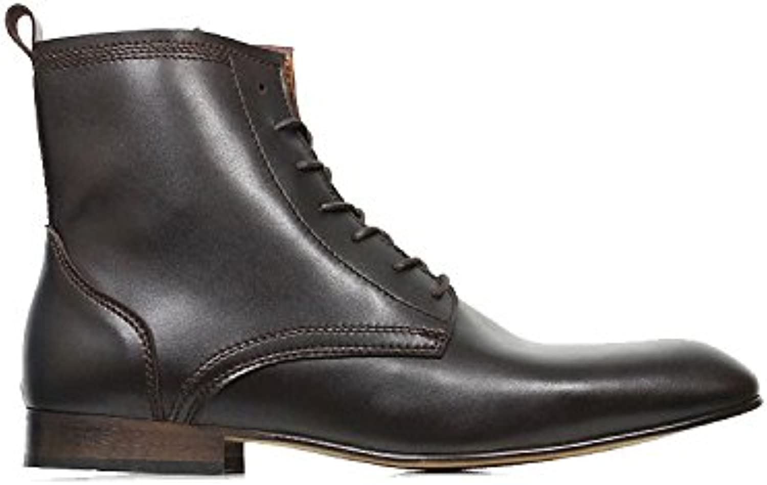 Will's Vegan Shoes SLIM SOLE DRESS BOOTS DARK BROWN