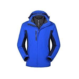 BRAVOLUNE Unisex Desmontable Al Aire Libre Montañismo En 1 Escudo De Montaña Ropa Impermeable Azul XL Alpinismo Impermeable Chaqueta De Esquí Ropa Impermeable 5