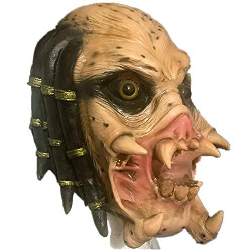 Gzhengjie Mask Halloween Kostüm Prop Horror Schreckliche Latex Maske Erwachsene - Latex, Unisex