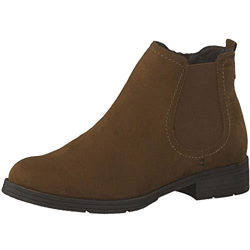 Jana Damen Stiefeletten Brauner Boot in Chelsea Optik 25376/305 braun 34274