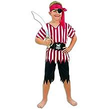 Piratenkostüm Kinder Kinderkostüm Seeräuberkostüm Piraten Kostüm Gr. 3-5 Jahre