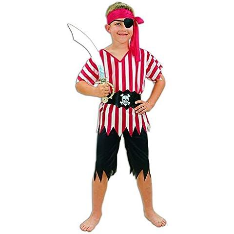 Pirate - Disfraz de pirata para niño, talla 4 - 6 años (U37 695)