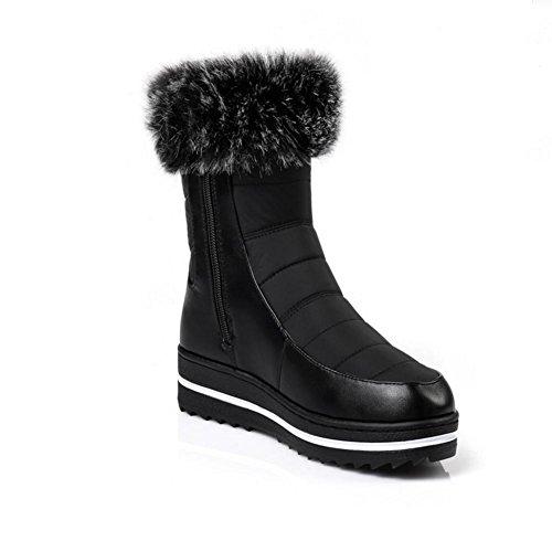 Stivali da donna Stivali da neve invernali Scarpe grandi dimensioni Stivali bassi a fondo piatto , 39 , black 36