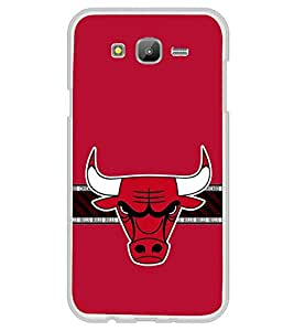 PrintVisa Angry Bull Pattern High Glossy Metal Designer Back Case Cover for Samsung Galaxy E5 :: Samsung Galaxy E5 Duos :: Samsung Galaxy E5 E500F E500H E500HQ E500M E500F/DS E500H/DS E500M/DS