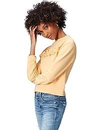 find. Sweatshirt Damen aus Baumwoll-Jersey, mit Rüschen
