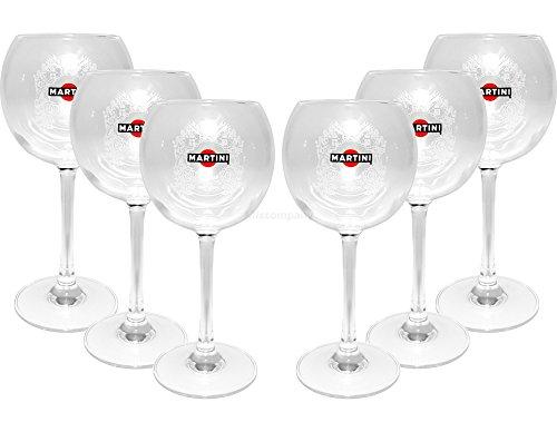 Preisvergleich Produktbild Martini Ballon Glas Gläser-Set - 6x Ballon Gläser